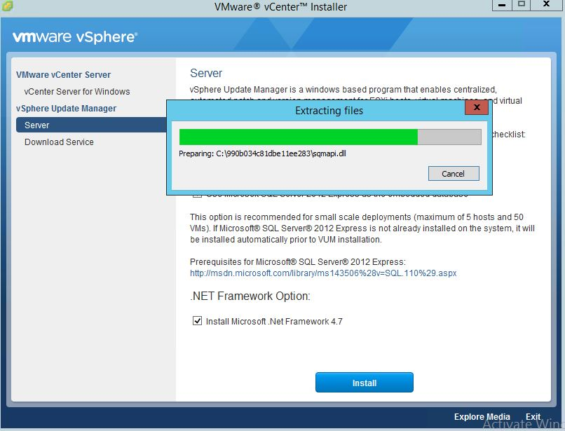 Install and Configure Update Manager on Windows vCenter 6 5