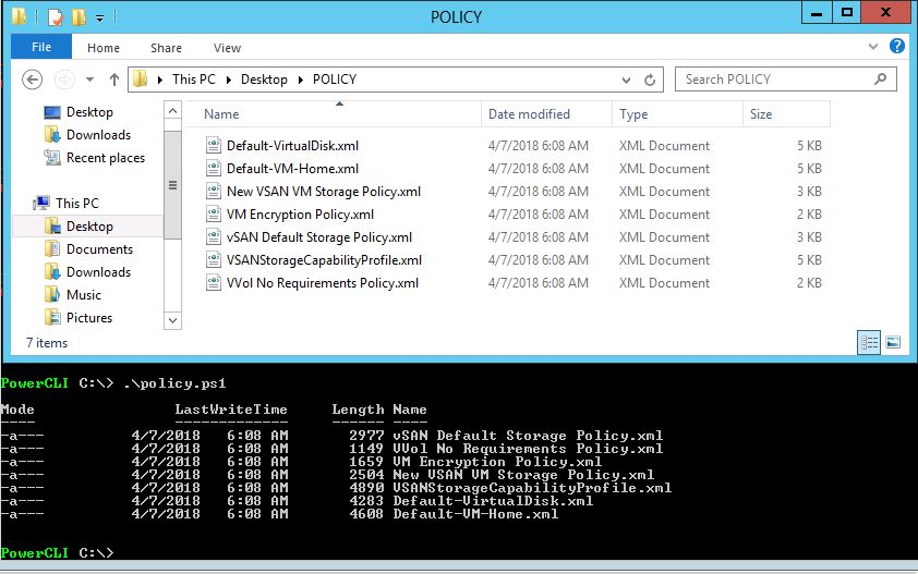 How to Backup or Recover SPBM with PowerCLI