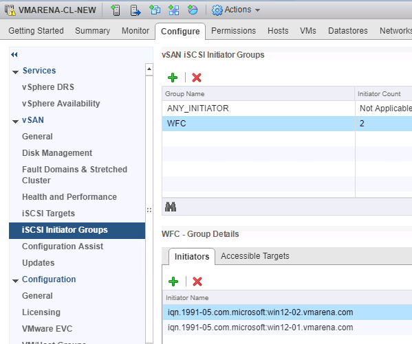 WSFC Configuration with vSAN 6 7 iSCSI Target
