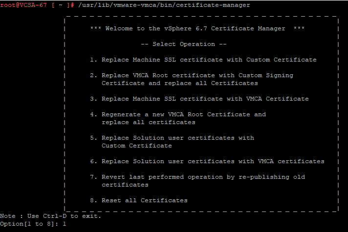 Replace VCSA 6 7 Certificate (VMCA) by an ADCS Signed