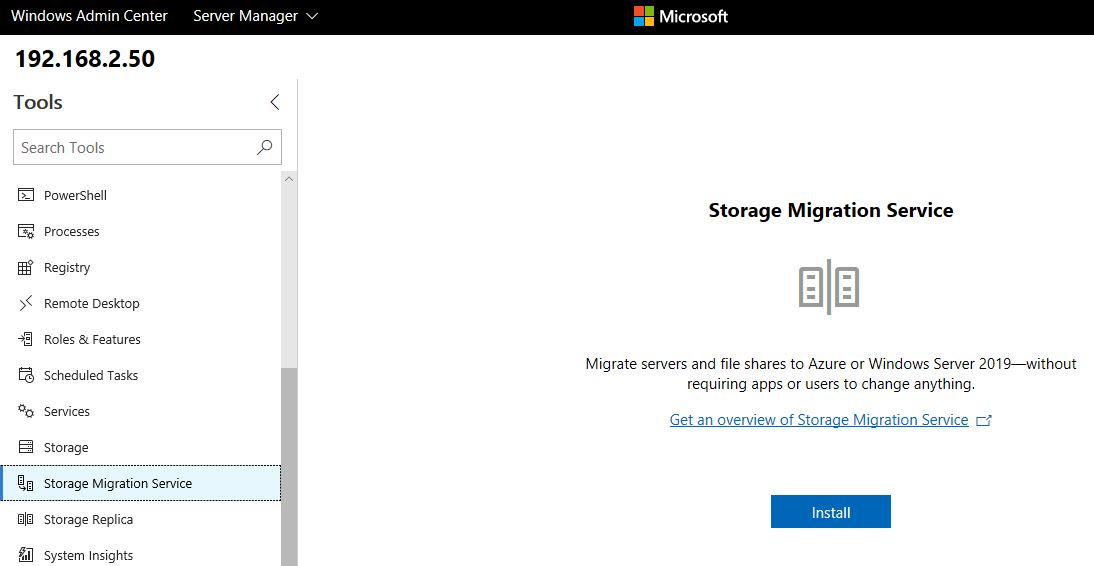 Storage Migration Admin Center -01