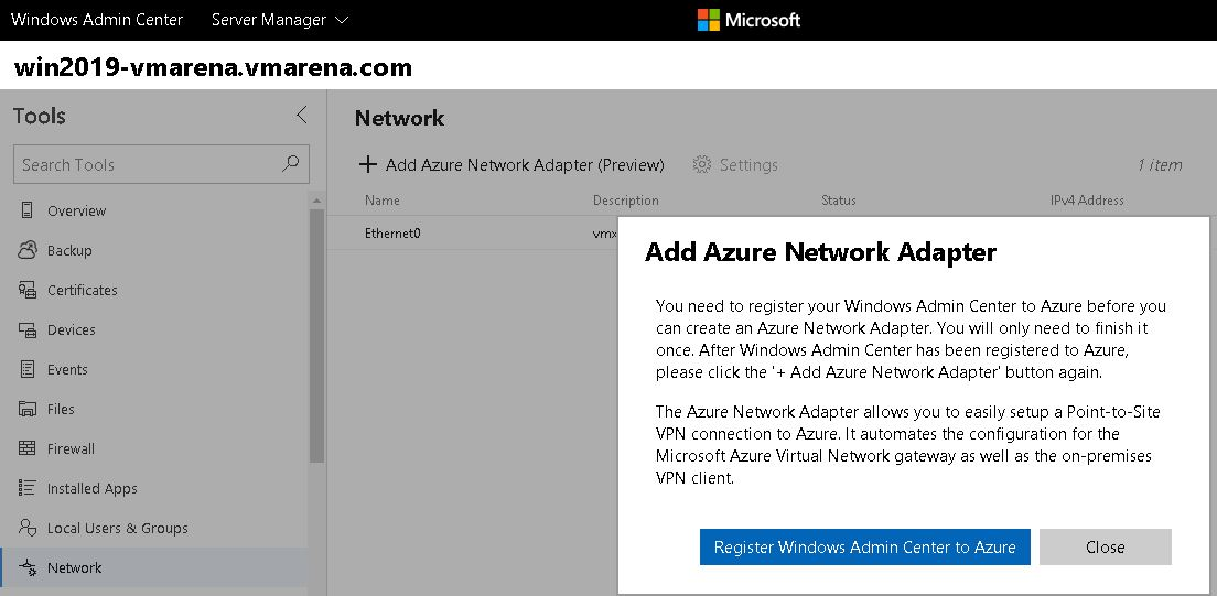Windows Server 2019 Hybrid Networking Features