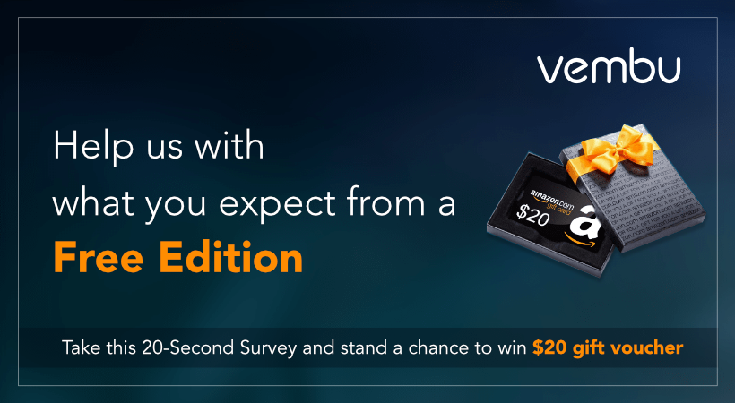 Chance To Win Amazon Gift Voucher By Survey Of Vembu Bdr Free Edition
