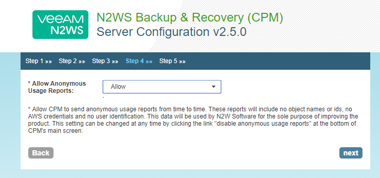 How to Configure the N2WS Appliance for AWS Backup