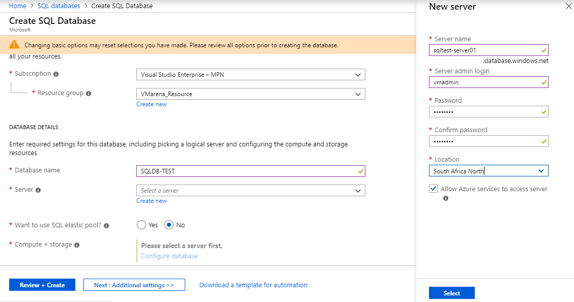 How To Create SQL Database In Microsoft Azure