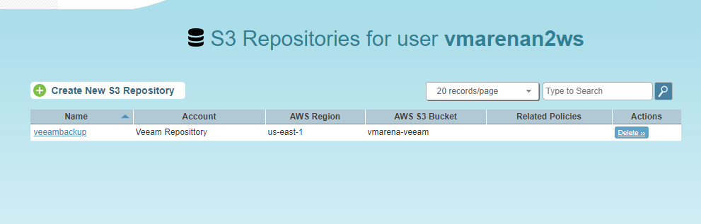 How to Configure an Amazon S3 Repository N2WS