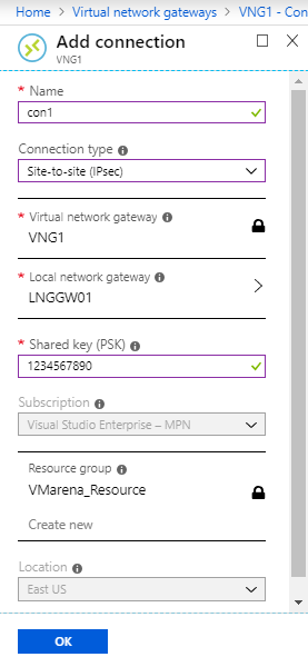 How to Create A Site to Site (S2S) VPN In Azure