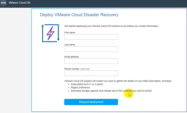 VCDR Deployment and Configurtaion